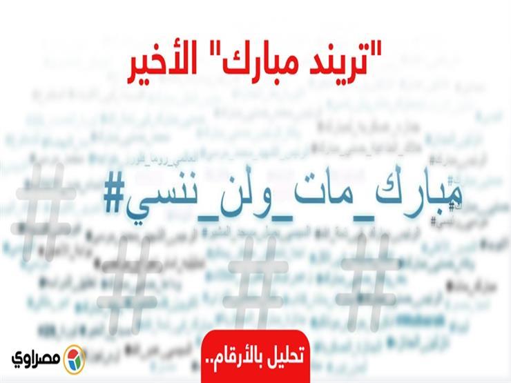"""""""تريند مبارك"""" الأخير.. كيف تفاعل المصريون مع رحيله على السوشيال؟ (تحليل بالأرقام)"""