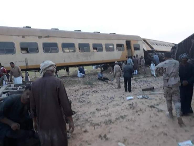 الصحة: إصابة 38 مواطنًا في حادث قطار مطروح ولا وفيات