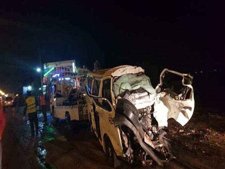 حادث الإقليمي.. تريلا تصطدم بـ17 سيارة وميكروباص (تغطية خاصة)