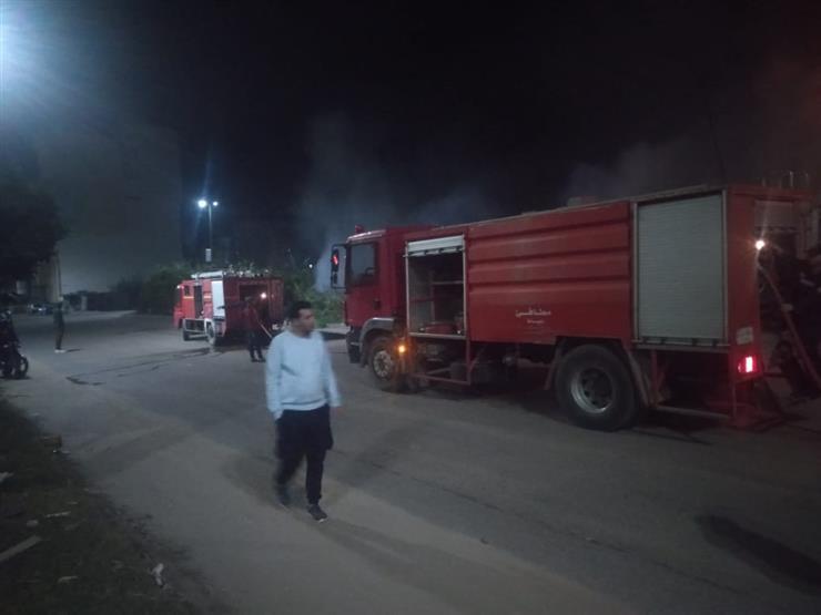 السيطرة على حريق هائل في أرض زراعية بدمياط