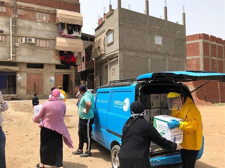 ميثانكس مصر تدعم العمالة اليومية بدمياط بـ10 آلاف كرتونة في مبادرة بنك الطعام