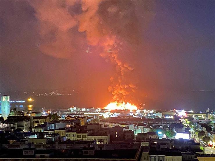 حريق كبير برصيف تاريخي في ميناء سان فرانسيسكو