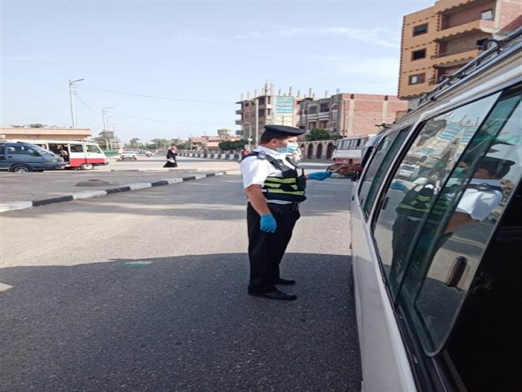 ضبط  3592 سائق نقل جماعى لعدم الالتزام بارتداء الكمامات