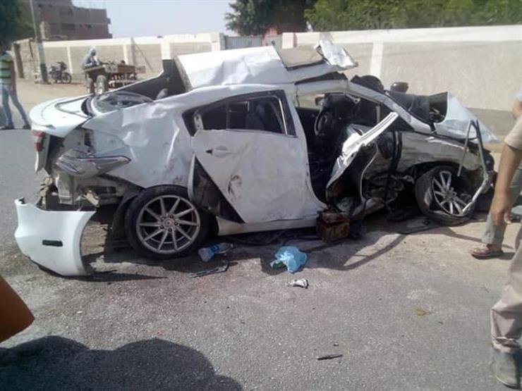 مصرع شخص وإصابة 7 آخرين في تصادم سيارتين بالدقهلية