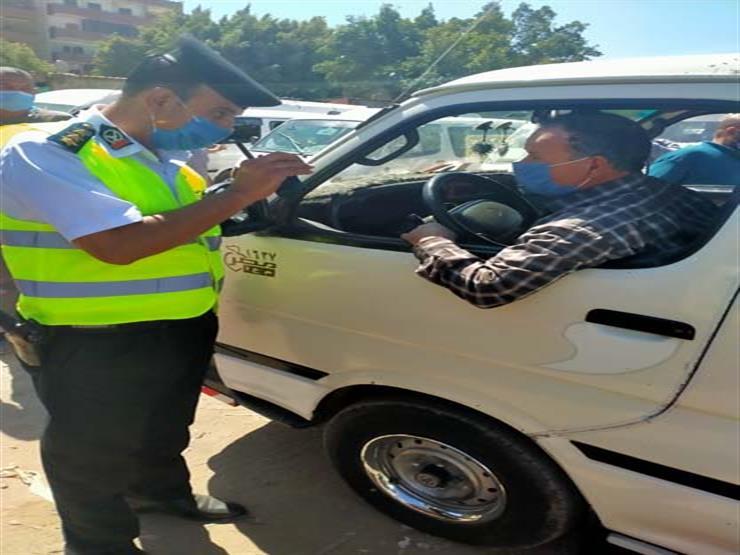 تحرير 2317 مخالفة لقرار الإغلاق المحال و16 ألف سائق لعدم ارتداء الكمامات