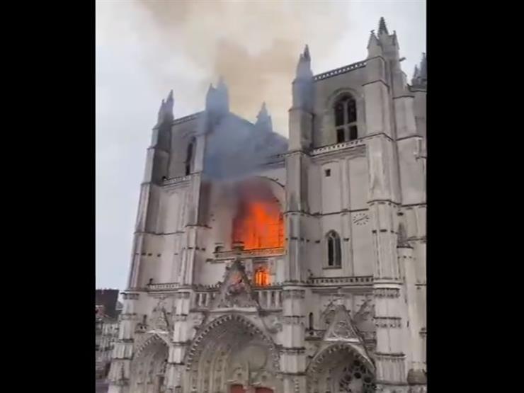 السيطرة على حريق كاتدرائية نانت في فرنسا