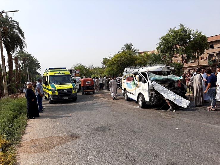 مصرع 8 أشخاص في حادث تصادم على الطريق الإقليمي بالقليوبية