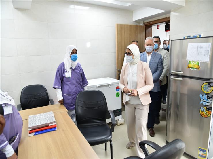 وزيرة الصحة تتفقد وحدة طب أسرة البعيرات بالأقصر