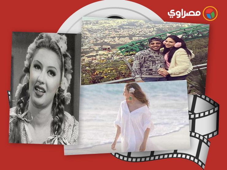 النشرة الفنية| منة عرفة تحذف صور غزلان والفيشاوي وزوجته في حمام السباحة