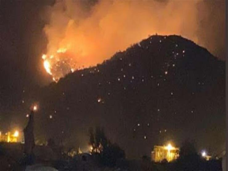 حريق ضخم بجبل عمد فى مكة المكرمة  (فيديو)
