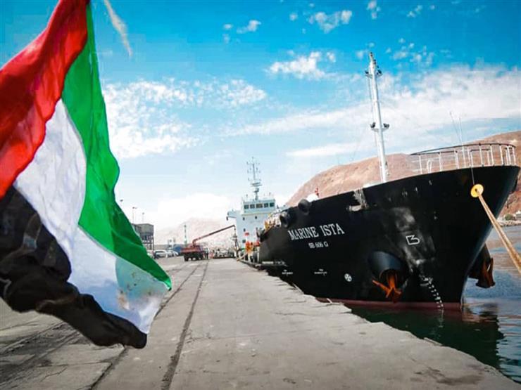 باخرة إماراتية تصل إلى بيروت على متنها 2400 طنًا من المساعدات