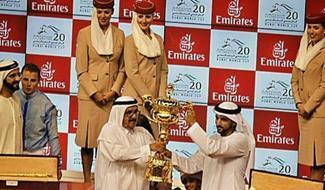 موقف إنساني رائع من ولي عهد دبي في كأس الخيول العالمي
