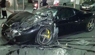نهاية مأساوية لفيراري 458 بعد سباق مع رينج روفر في القدس