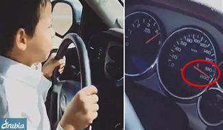 فيديو.. طفل سعودي يقود على طريق سريع بسرعة 200 كم