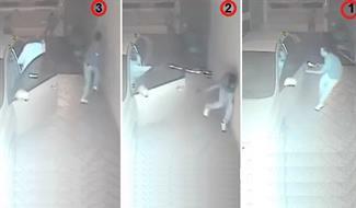 فيديو يتحدث عنه العالم..أطلق الرصاص علي اللص داخل الجراج الا أنه استطاع الفرار