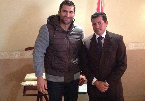 الدكتور أشرف صبحي مع رمضان درويش