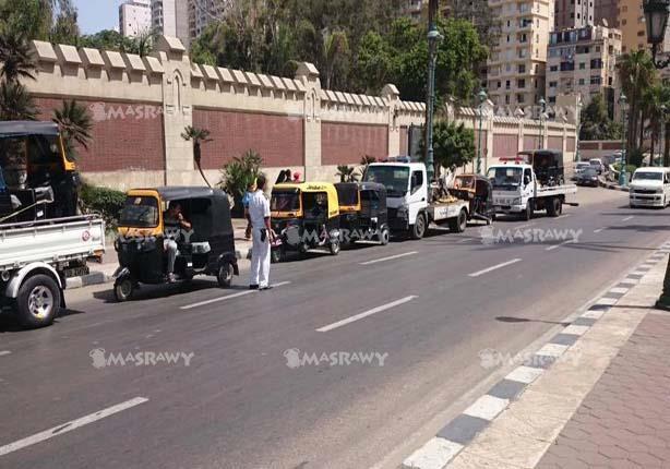 حظر سير التوك توك بالاسكندرية (1)