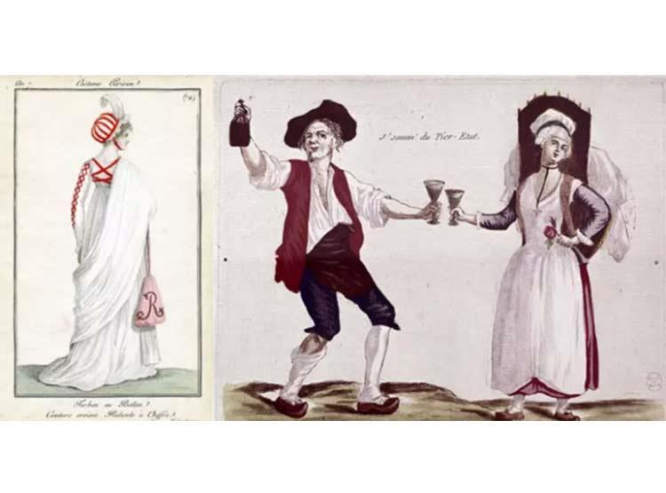 النساء أثناء الثورة الفرنسية ترتدي الـ Choker