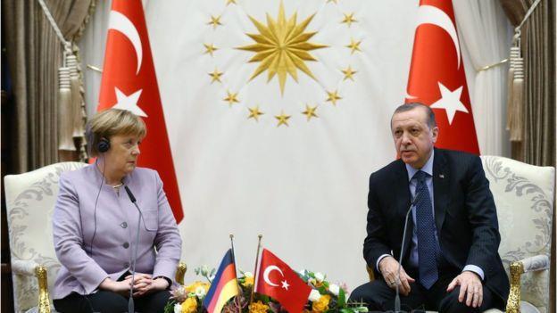 اردوغان وميركل