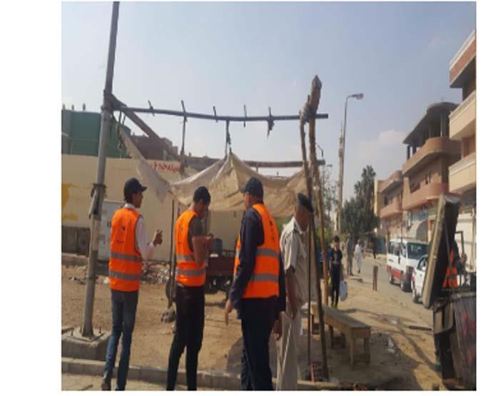 حملة إزالة إشغالات بمدينة 6 كتوبر (1)