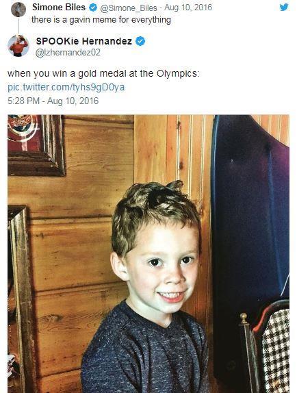 البطلة الأولمبية الأمريكية لوري هيرنانديز تنشر صورة جافين