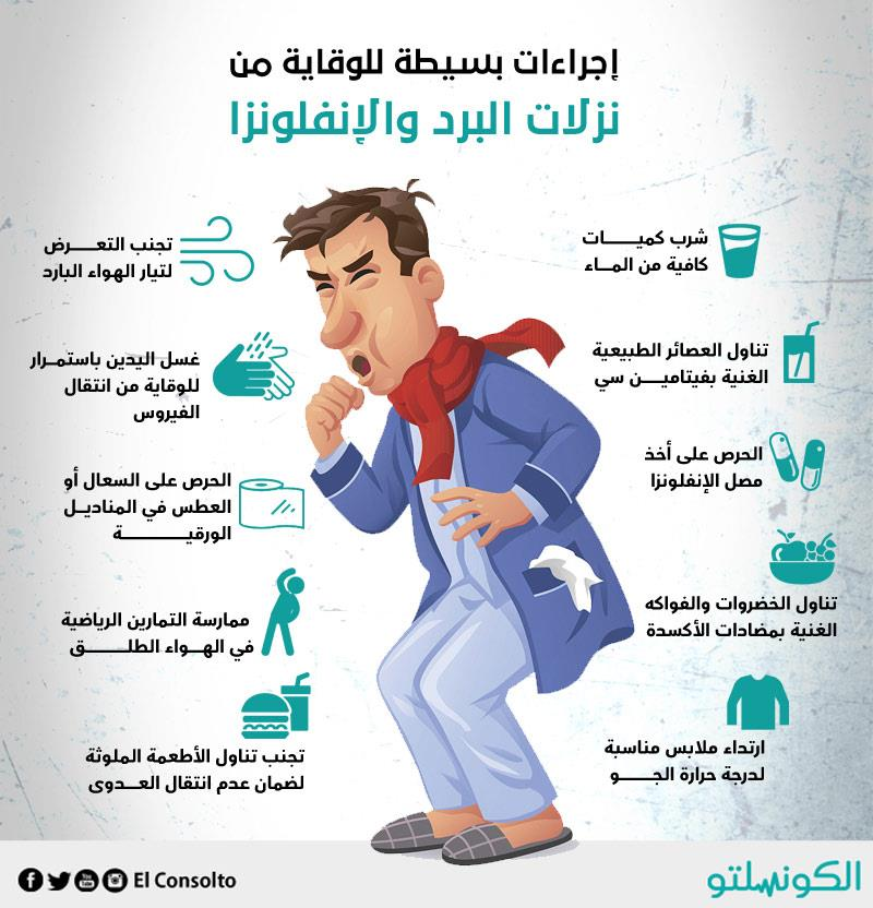 إجراءات للوقاية من نزلاد البرد والإنفلونزا