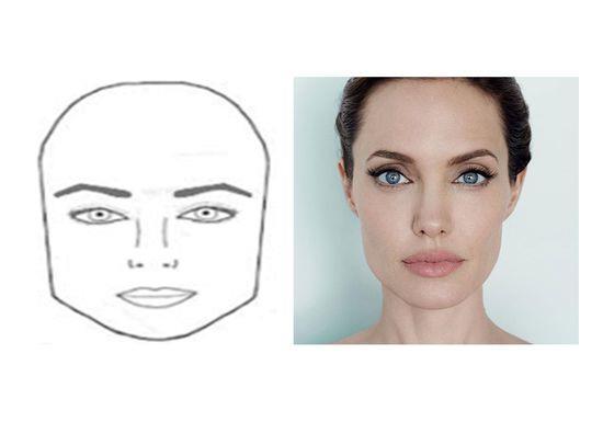 الوجه المربع