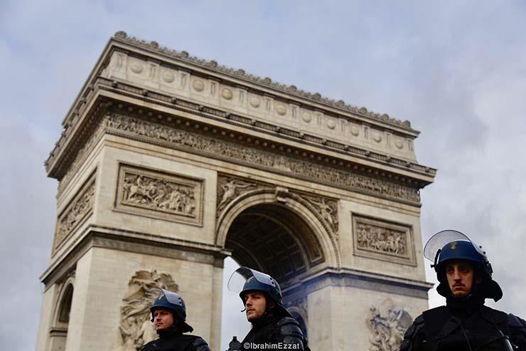 احتجاجات السترات الصفراء بباريس (2)