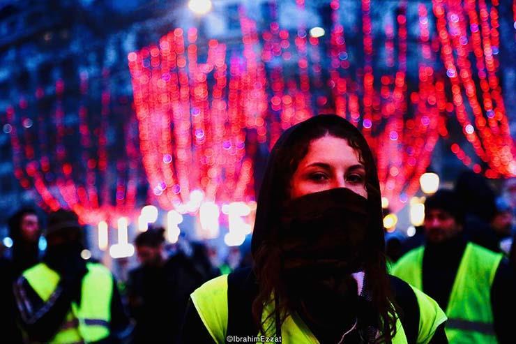 احتجاجات السترات الصفراء بباريس (3)