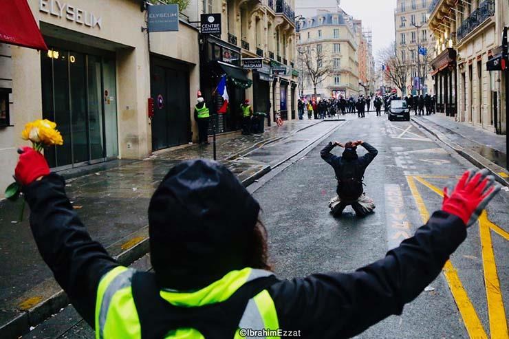 احتجاجات السترات الصفراء بباريس (5)