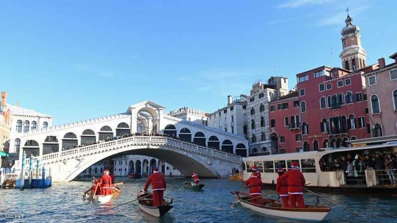 القناة المائية الكبرى في مدينة البندقية الإيطالية