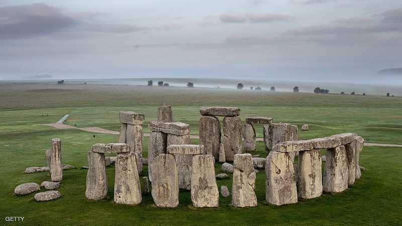 موقع ستونهنج الحجري الأثري في إنجلترا.