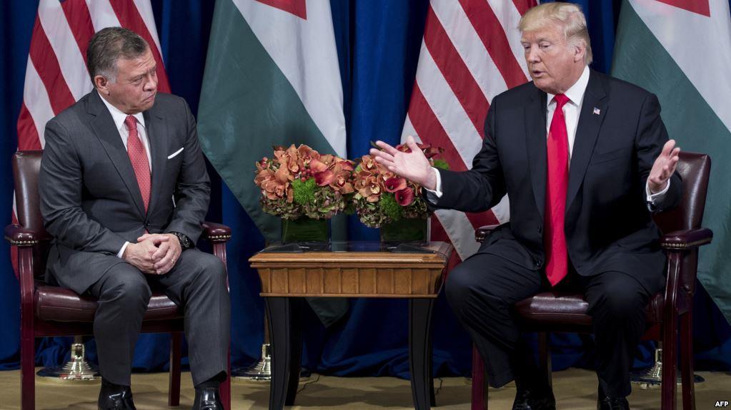 ترامب والملك عبدالله