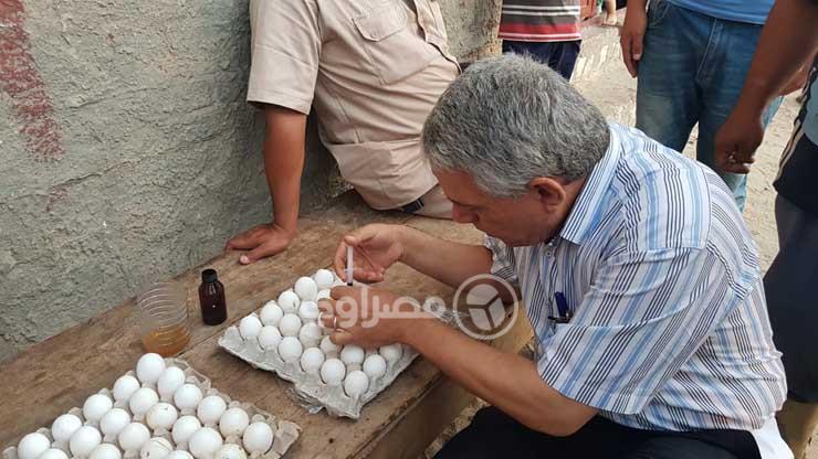 حقن البيض السم