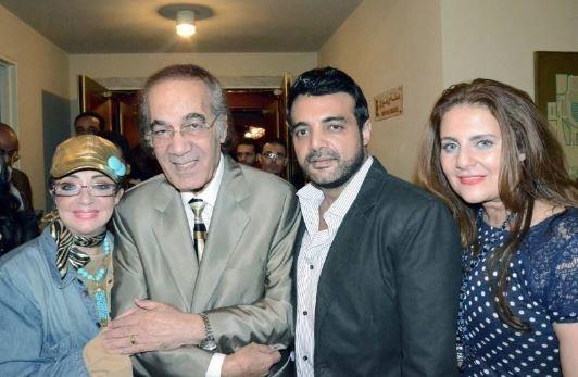 محمود ياسين وشهيرة وعمرو محمود ياسين ورانيا محمود ياسين