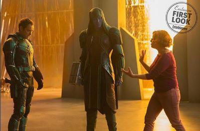 صورة من كواليس Captain Marvel
