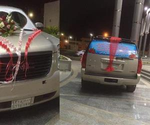 بالصور . . سعودي يشعل تويتر بعد ما فعله بسيارته من أجل والدته