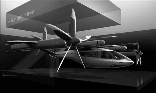 هيونداي تطور تاكسي طائر بالتعاون مع أوبر