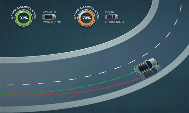 لتقليل الشعور بالغثيان Land Rover تقنية جديدة من