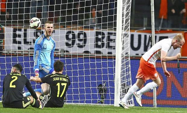 دل بوسكي: كان من الصعب العودة للمباراة بعد هدفي هولندا