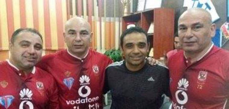 التوأم وعماره بقمصان الأهلي مع سمير عثمان