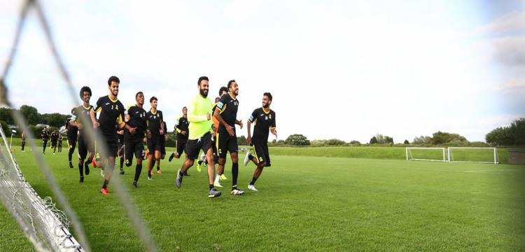 لقطة من تدريبات الاتحاد بحضور رئيس النادي
