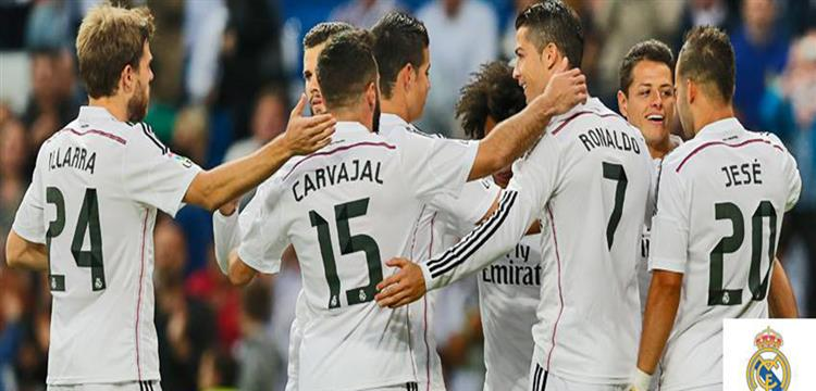 لاعبو فريق ريال مدريد