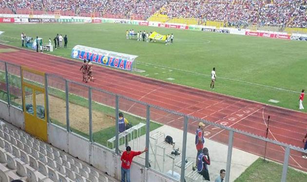 لقطة من مباراة الذهاب بين غانا ومصر