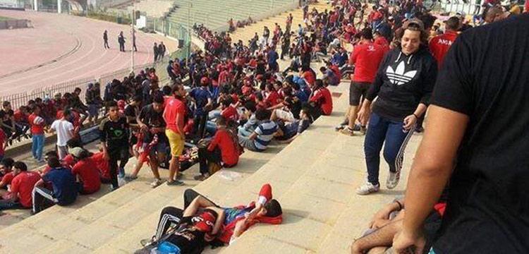 جماهير الأهلي بملعب المقاولون العرب