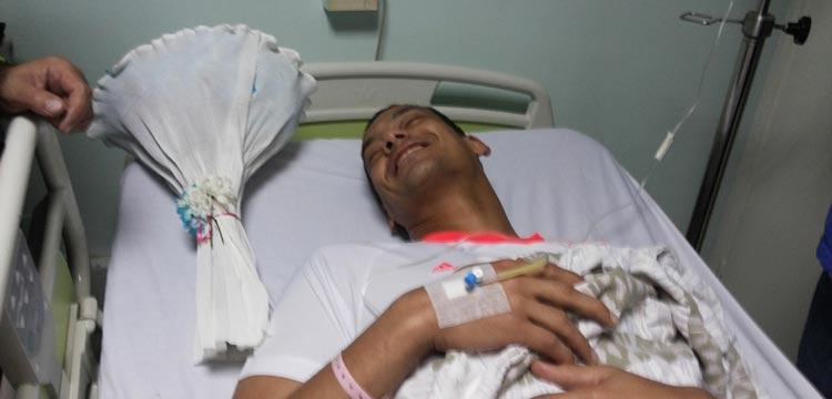 صورة لعبد الواحد السيد من المستشفى