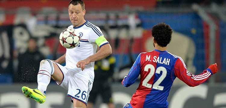محمد صلاح مع قائد فريقه الجديد جون تيري