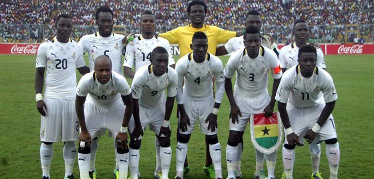 لاعبو المنتخب الغاني