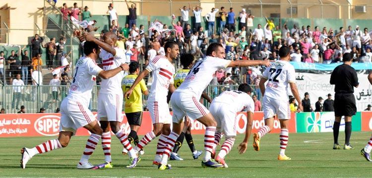 لاعبو الزمالك في صورة أرشيفية من نهائي كأس مصر الأخير
