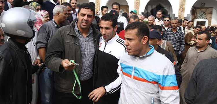 جماهير المغرب تحاصر بعثة الاهلي